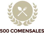 500 comensales